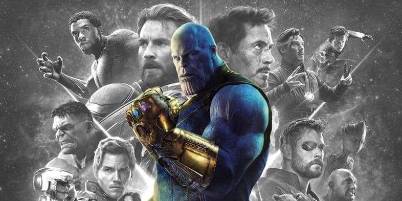 Thanos e os heróis